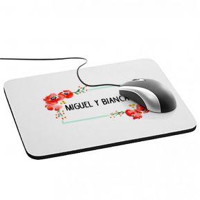 Alfombrilla de ratón personalizada con flores de acuarela
