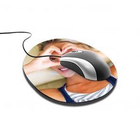 Alfombrilla de ratón circular personalizada con foto