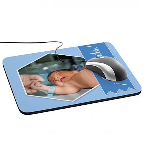 Alfombrilla de ratón personalizada foto y cinta Azul