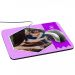 Alfombrilla de ratón personalizada foto y cinta Morado
