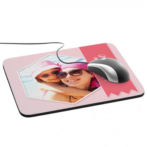 Alfombrilla de ratón personalizada foto y cinta Rosa