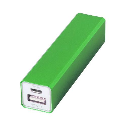 Batería externa móvil verde