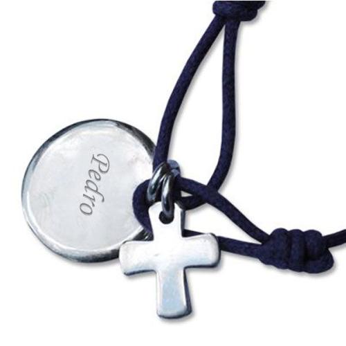 Brazalete de bautismo grabado