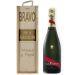 Caja de champaña gráfica personalizada