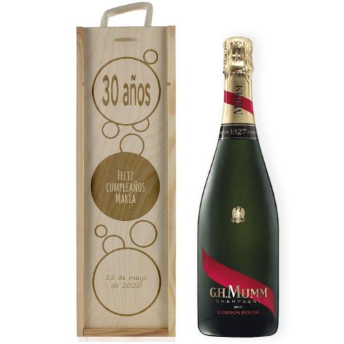 Caja de champaña burbujas personalizada