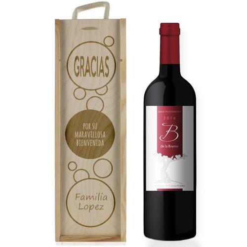 Caja de vino burbujas personalizada