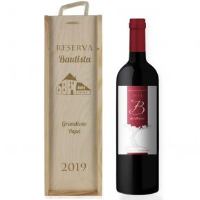 Caja de vino clásica personalizada