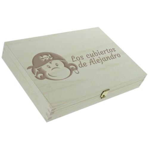 Cofre personalizado cerrado mono pirata