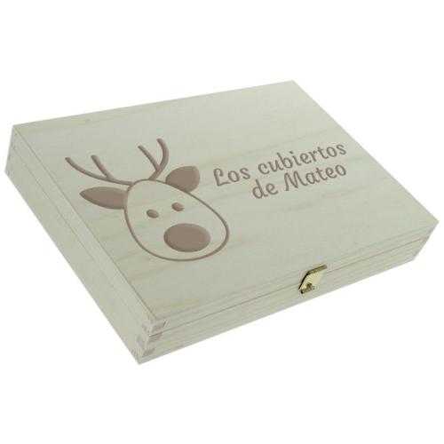 Cofre cerrado y personalizado con motivos de navidad