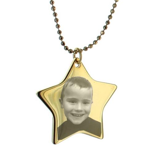 Colgante estrella grabado con foto