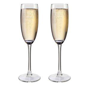 Copas de champaña papá y mamá personalizadas