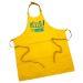Delantal amarillo en coton personalizado HELLO