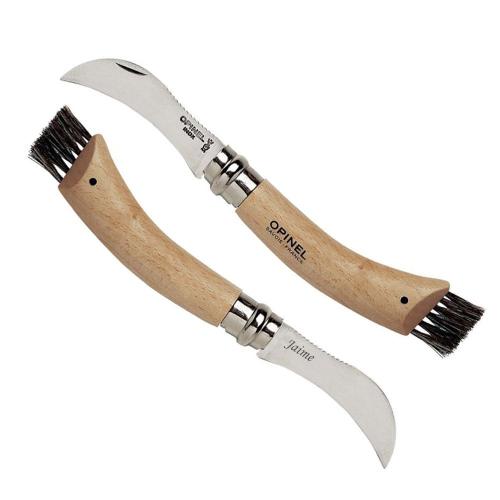 Cuchillo Opinel champiñón grabado