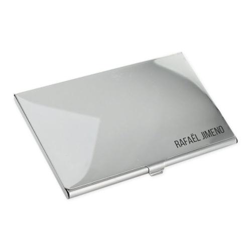 Estuche de tarjeta de presentación grabado
