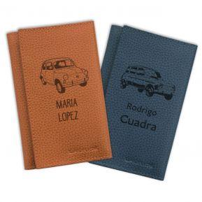 Porta-documentos para el coche personalizado retro