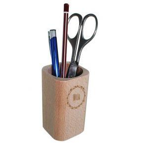 Portalápices en madera personalizado