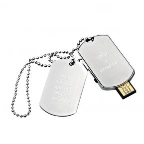 Colgante con placa personalizada y llave USB 16Go