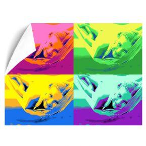Póster Pop Art con 4 fotos formato horizontal
