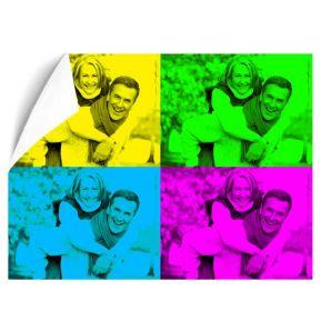 Póster Pop Art moderno con 4 fotos formato horizontal