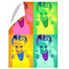 Póster Pop Art con 4 fotos formato vertical