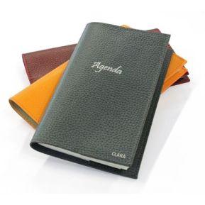 Agenda de bolsillo en cuero personalizado