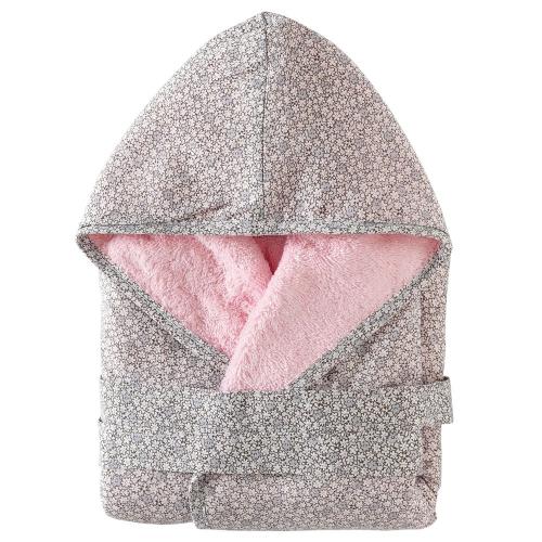 Albornoz rosa bebé