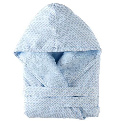 Albornoz azul bebé