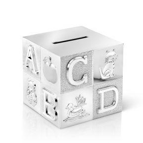 Alcancía cubo alfabeto