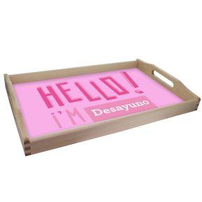 Bandeja personalizada Hello