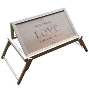 Bandeja para la cama personalizada Amor
