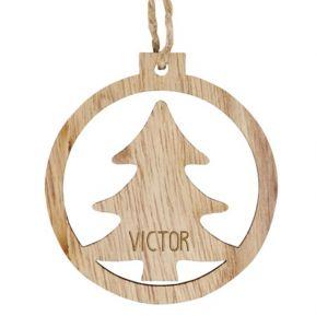 Adorno navideño en madera personalizado Pino