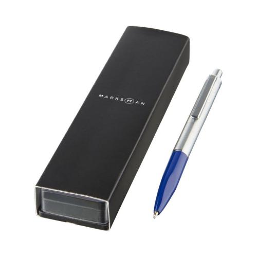 Bolígrafo Marksman Azul Cofre
