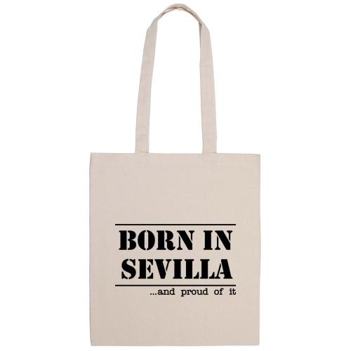 Bolsa de algodón Born in Sevilla