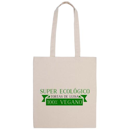 Bolsa de algodón cinta verde