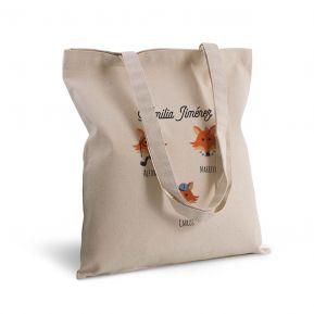 Bolsa de algodón personalizada Animales