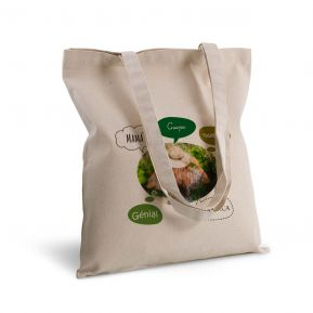 Bolsa de algodón personalizada burbujas y foto