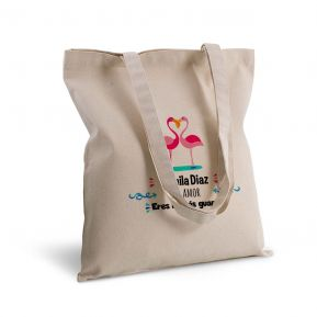 Bolsa de algodón personalizada flamenco