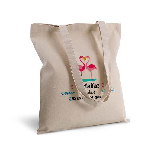 Bolsa de algodón clásico flamenco rosa