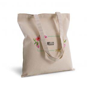 Bolsa de algodón personalizada flores en acuarela