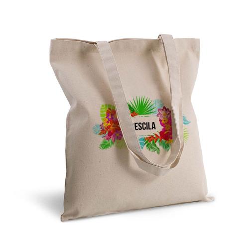 Bolsa de algodón flores exoticas