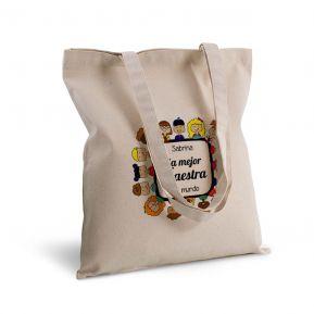 Bolsa de algodón personalizada gracias maestra