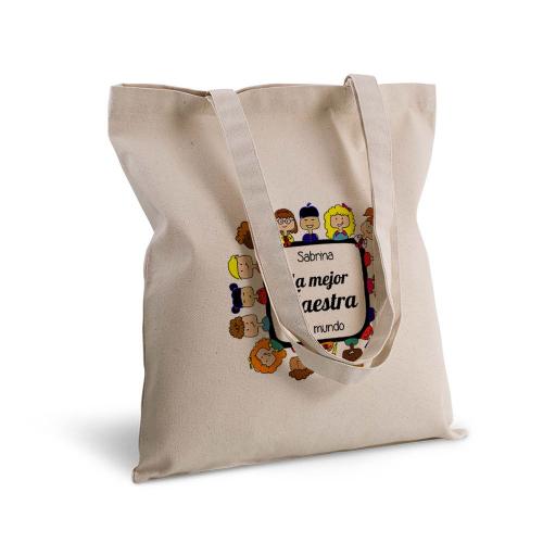 Bolsa de algodón clásico gracias maestra