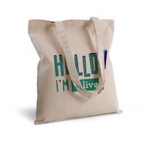 Bolsa de algodón personalizada HELLO