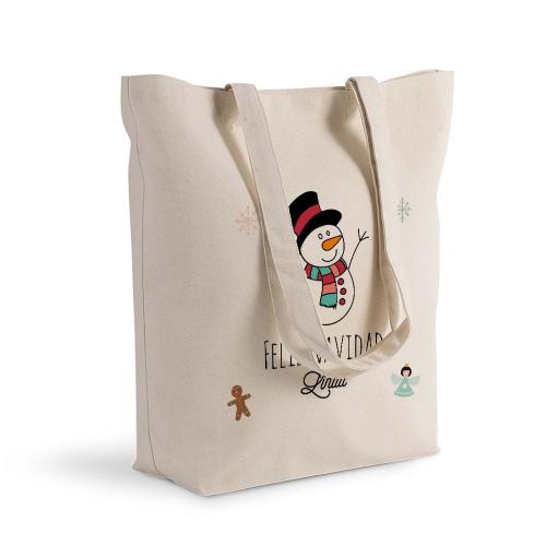 Bolsa de algodón Shopping navidad