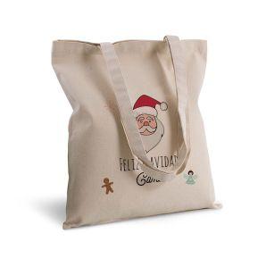 Bolsa de algodón personalizada navidad