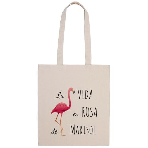 Bolsa de algodón La vida en rosa
