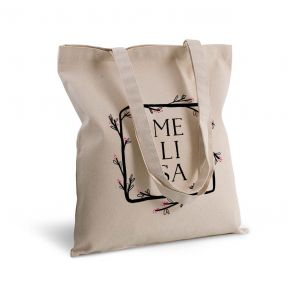 Bolsa de algodón personalizada marco de flor