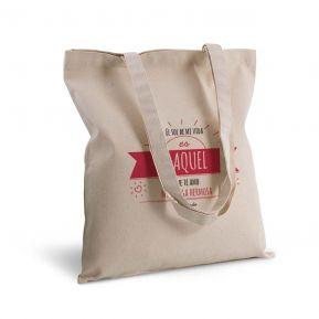Bolsa de algodón personalizada con mensaje soleado