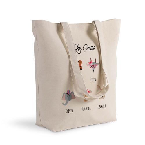 Bolsa de algodón Shopping Animales