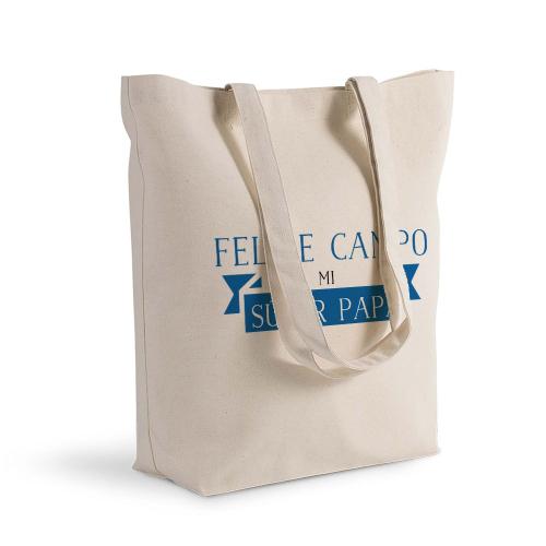 Bolsa de algodón Shopping cinta azul